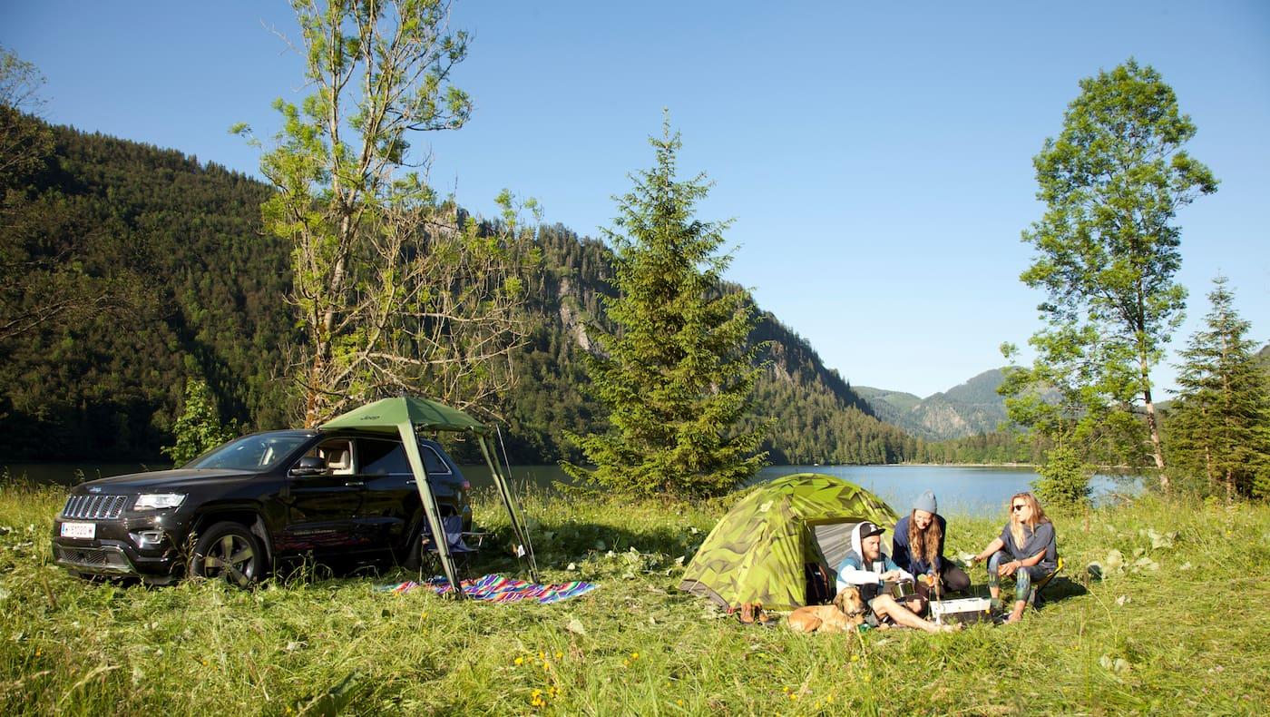 Zelten Campen in den Bergen