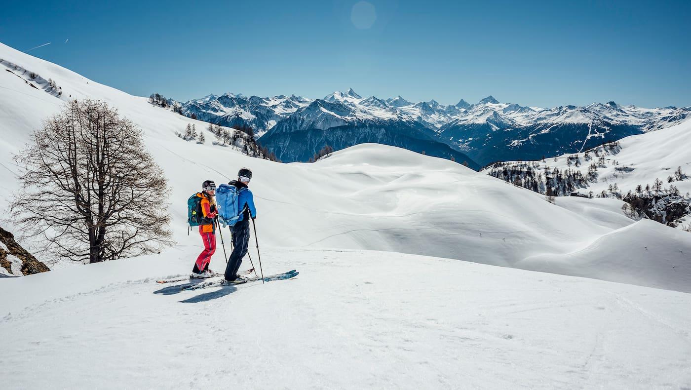 Wintersport á la carte in Crans-Montana