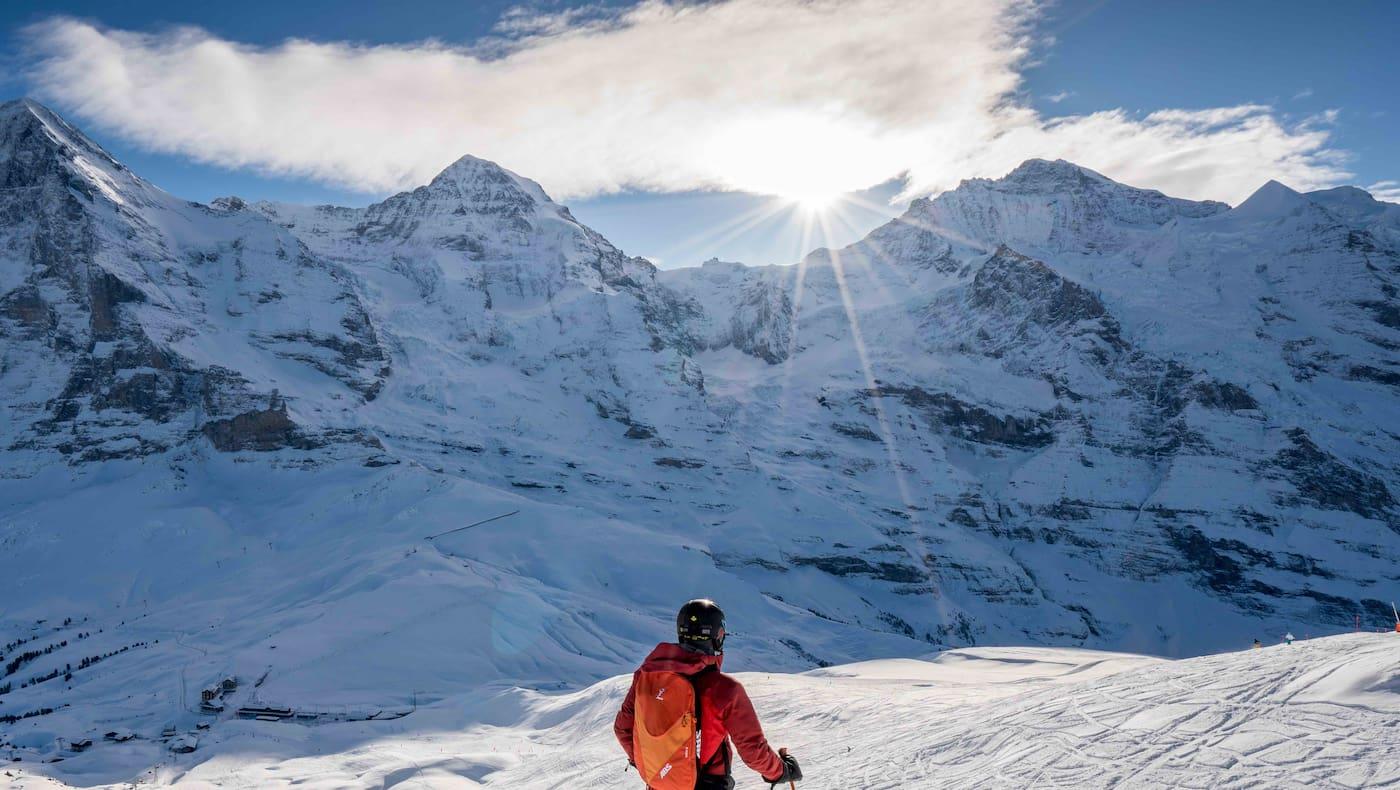 Winterspaß im Angesicht von Eiger, Mönch und Jungfrau