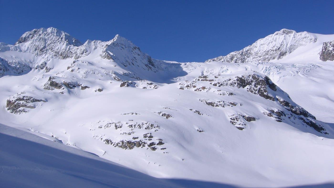 Der Piz Buin, mit 3.312 m dritthöchster Gipfel in der Silvretta