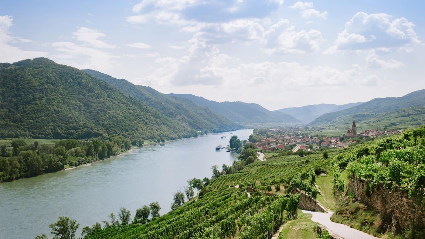 Blick auf die Donau in Niederösterreich