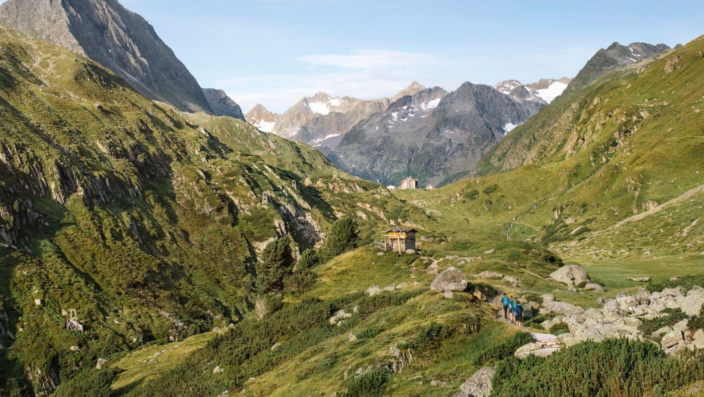Auf dem Weg zur Franz-Senn-Hütte im Tiroler Stubaital
