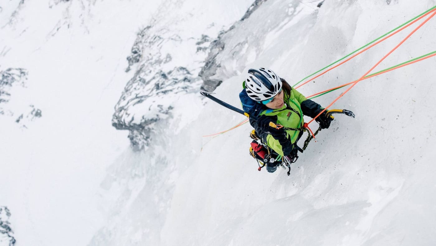 Petra beim Klettern