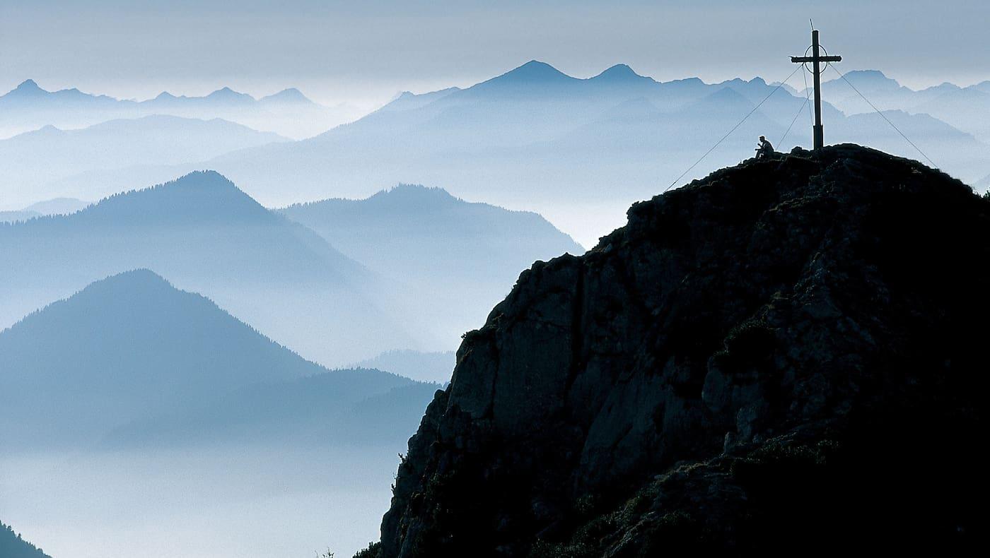 Gipfelkreuz: Buchstein in Bayern