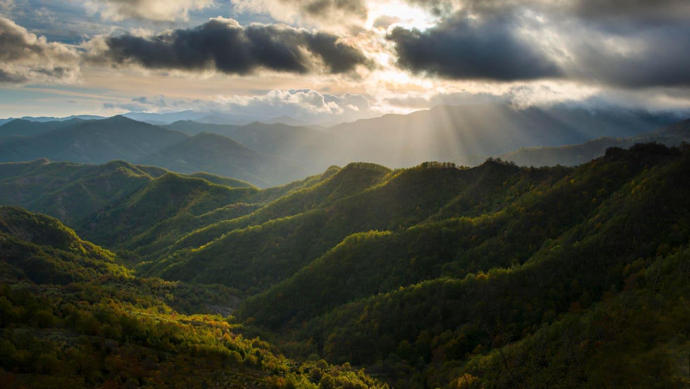 Wolkenstimmung über den Foreste Casentinesi