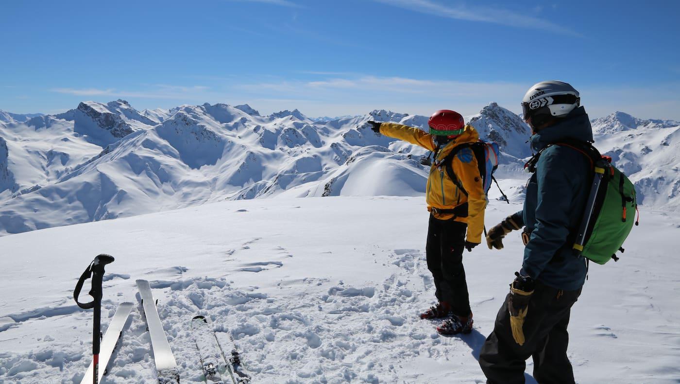 Tuxer Alpen in Tirol: Aussicht von Hobarjoch