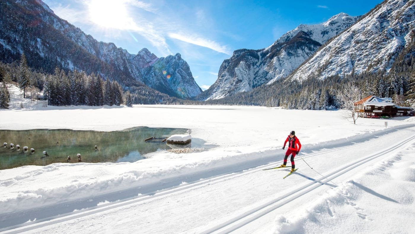Das winterliche Höhlensteintal und der Toblacher See