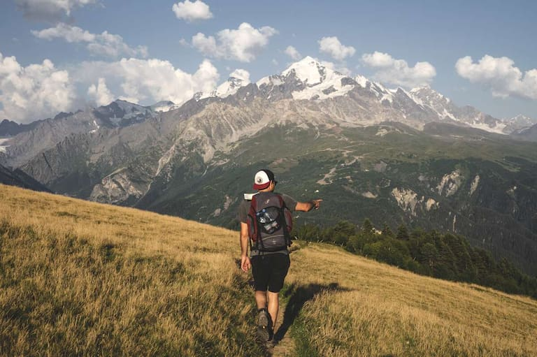 Unterwegs am Mestia-Ushugli-Trek