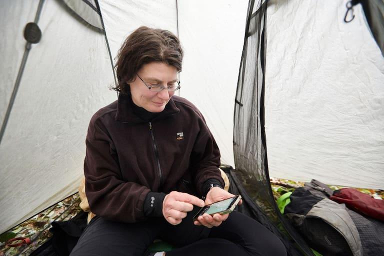 Langstreckenwanderin Christine Thürmer