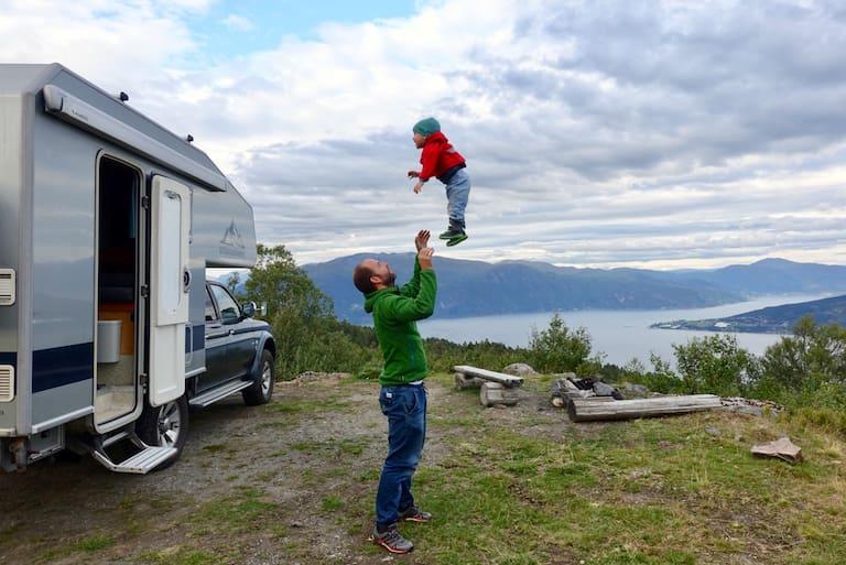 Campen mit Kindern in Norwegen