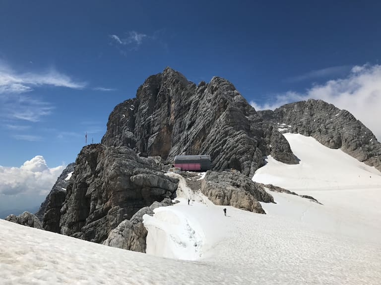 Baustelle Seethalerhütte auf 2.740 m, Anfang Juli 2018