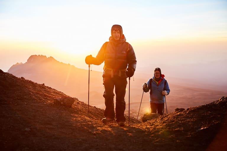 Gipfelsturm: Christian Rainer und Klaus Haselböck am Kilimanjaro