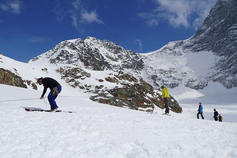 Spaltenrettung am Gletscher: Mannschaftszug