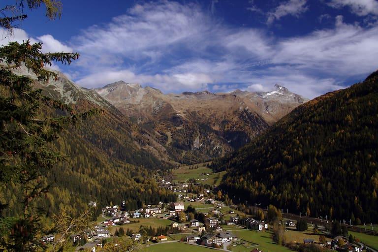 Blick auf Mallnitz und ins Seebachtal