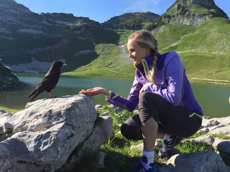 Patricia Kaiser am Berg