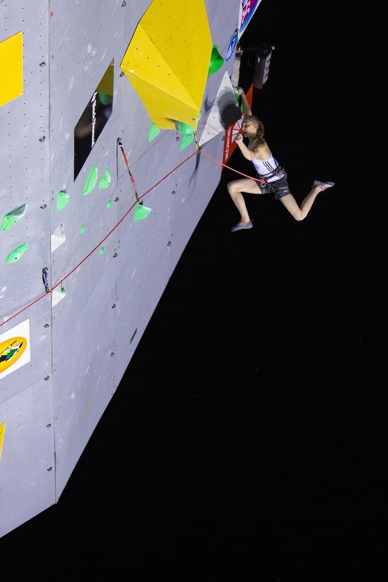 Favoritin auf den Vorstiegs-Titel bei den Damen: Janja Garnbret aus Slowenien