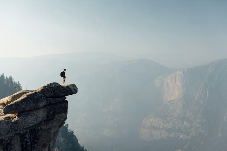 Wandern eröffnet neue Perspektiven, doch es will gut vorbereitet sein. Glacier Point, Yosemite Valley