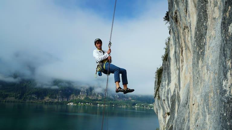 Alpines Sportklettern – Halbseil: Abseilen