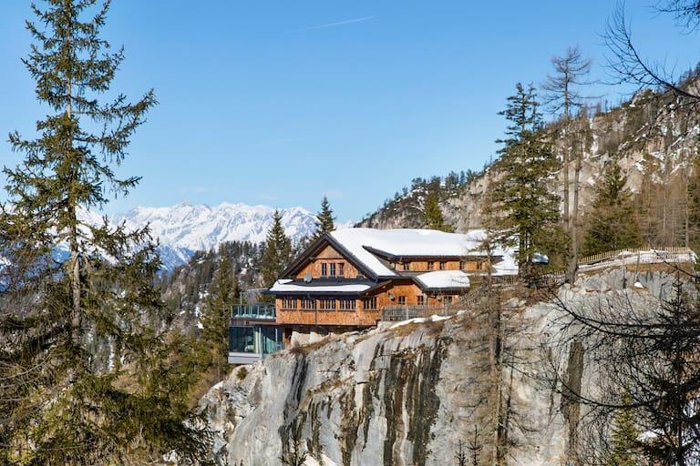 Die Dolomitenhütte (1.616 m) in Osttirol