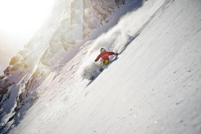 Nadine Wallner liebt steile Lines und tiefen Powder