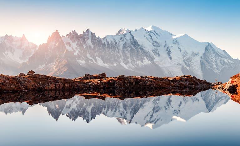 Mont Blanc von Lac Blanc