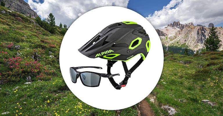 Tag 4 (4. August): Fahrradhelm und Sonnenbrille von Alpina
