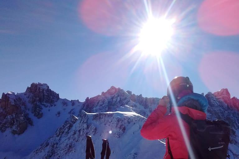 Gute Schneebedingungen in der Axamer Lizum in Tirol