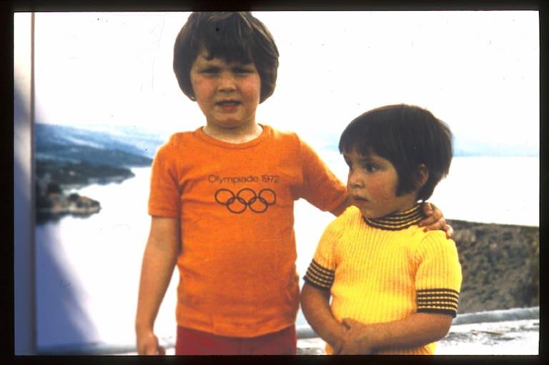 Thomas und Alexander Huber als Kinder
