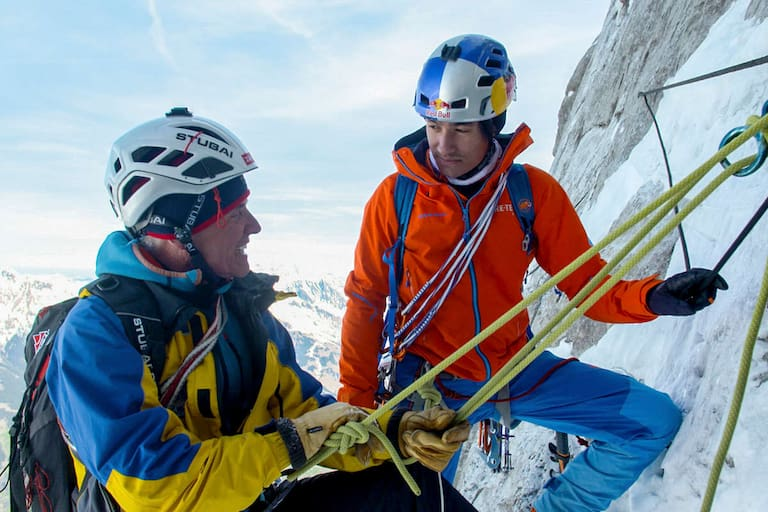 Peter Habeler und David Lama an der Eiger-Nordwand