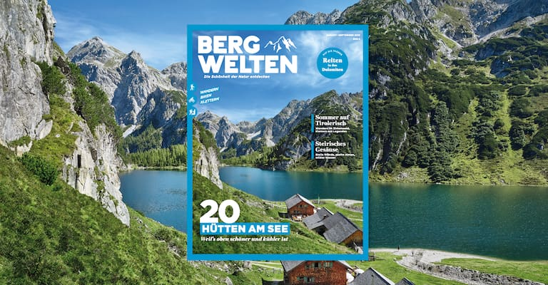 Jetzt überall im Zeitschriftenhandel – das Bergwelten Magazin (August/September 2019)