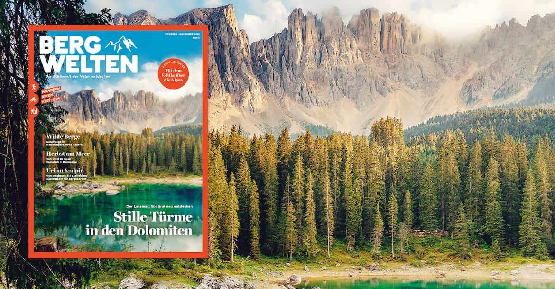 Das aktuelle Bergwelten-Magazin (Ausgabe Oktober/November 2019)