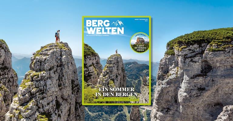 Das neue Bergwelten Magazin (August/September 2018)