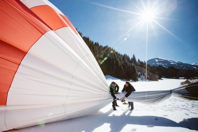 Der Heißluftballon wird wieder eingepackt
