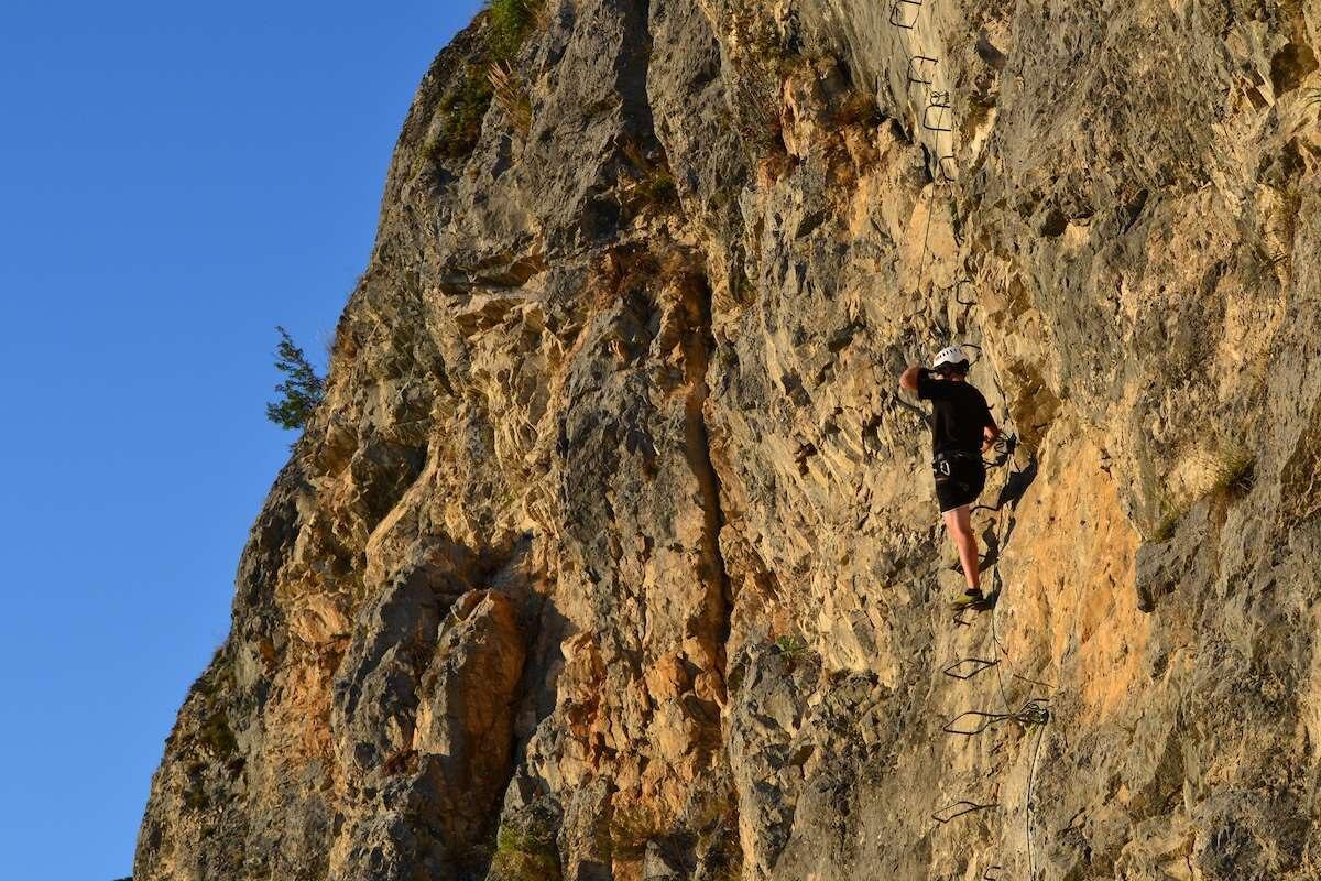 Klettersteig Wallis : Der klettersteig belvédère c d im wallis bergwelten