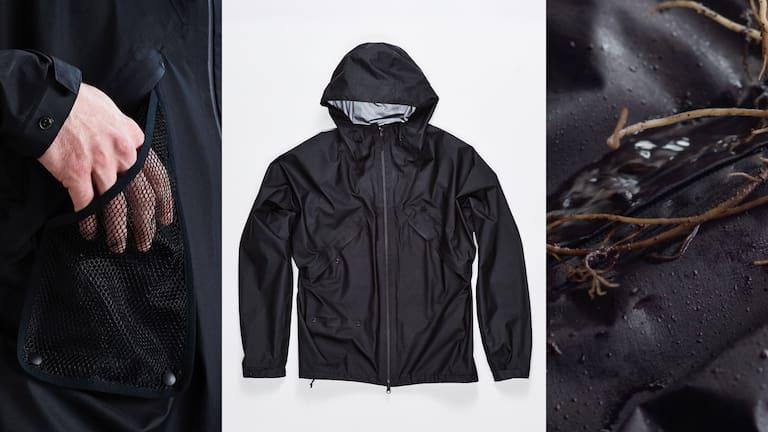 Goldwin PERTEX® SHIELDAIR Jacket – technische, minimalistische Bekleidung, die überzeugt.