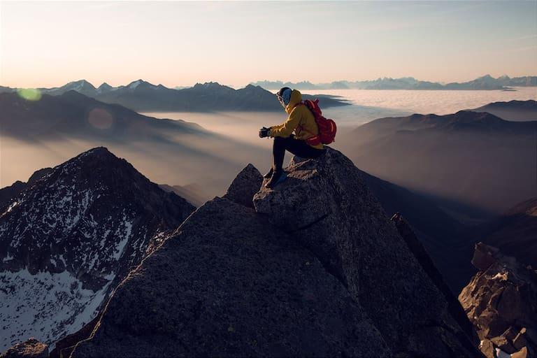 Trailläufer Markus Kröll auf der Berliner Spitze