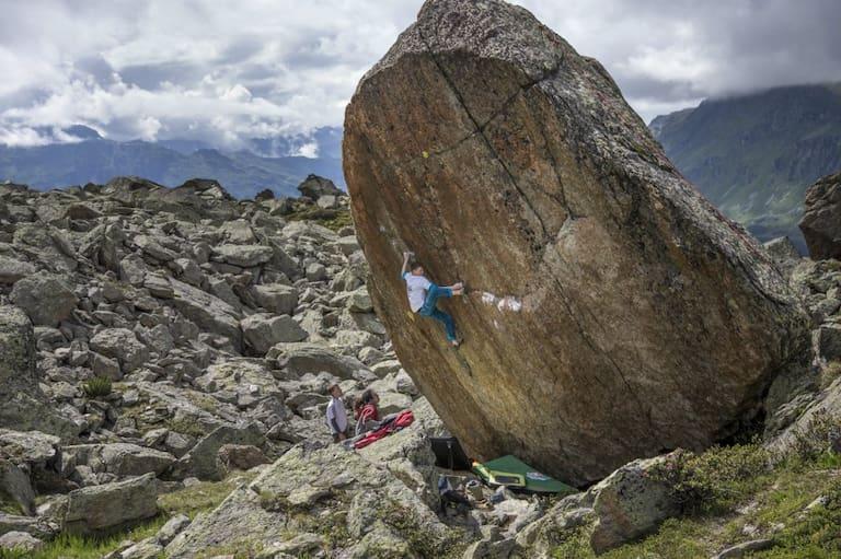 Bouldern im Silvapark im Paznaun