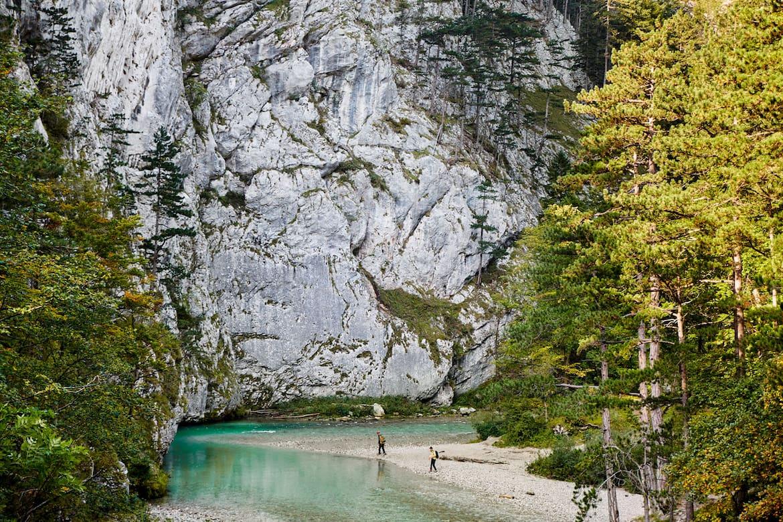 Wo das Wiener Wasser herkommt – am Ufer der Schwarza.