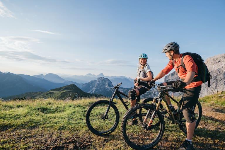 Ob zu Fuß oder mit dem Bike – die traumhafte Bergnatur steht auch bei anspruchsvollen Touren in der Region Nassfeld - Pressegger See - Weissensee - Lesachtal immer im Vordergrund.