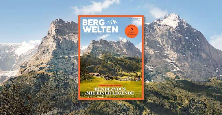 Überall im Zeitschriftenhandel: das aktuelle Magazin Bergwelten (Oktober/November 2018)