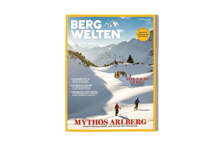 Cover des Bergwelten Magazins (Dezember/Jänner 2016/17)