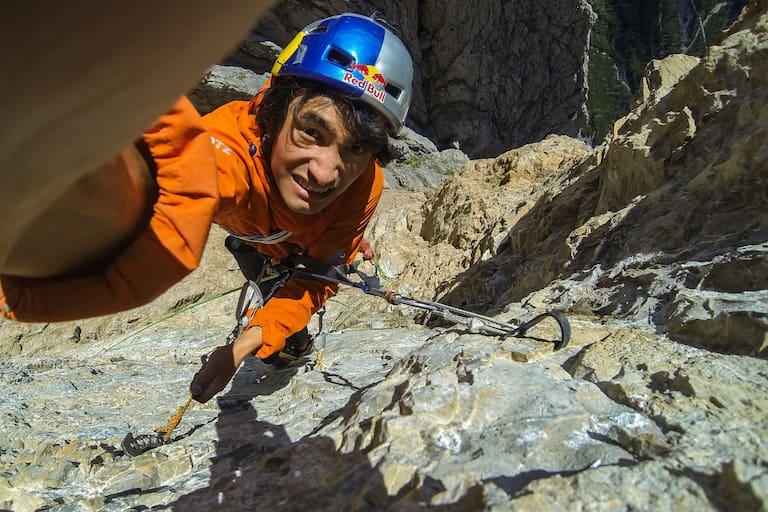 David Lama in der Laserzwand