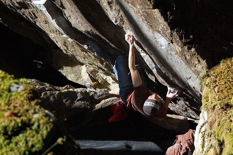 Bouldern im Ginzling Wald