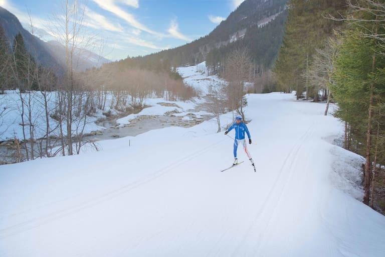 Langlauf-Skating kombiniert Naturgenuss mit intensivem Ganzkörpertraining