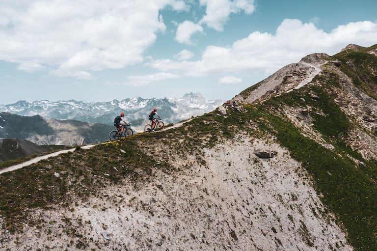 Mountainbiker auf der Greitlspitze