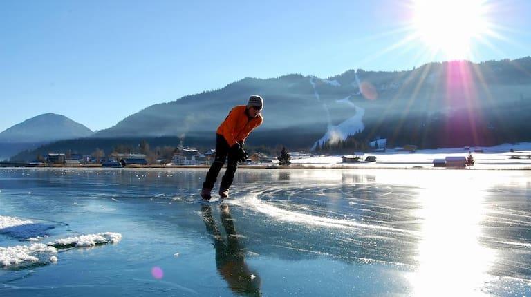 Eissport am Weissensee in Kärnten