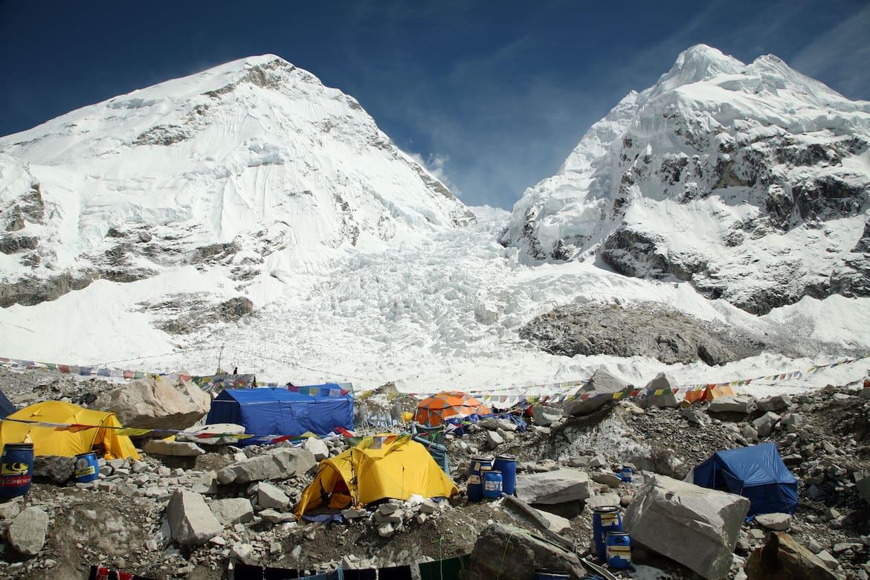 Basisilager des Mount Everest