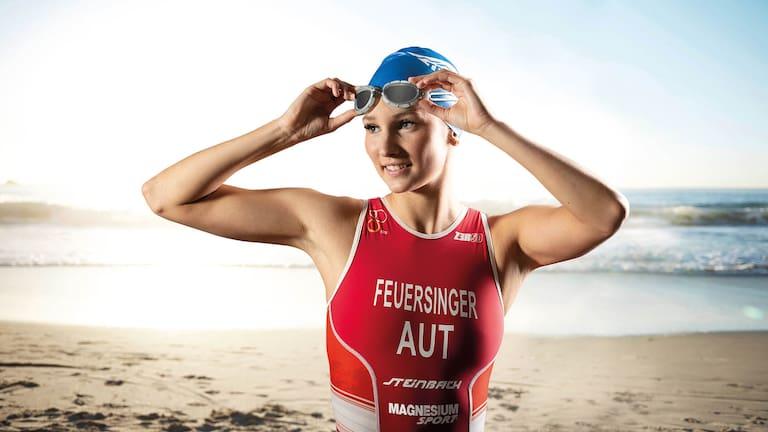 Triathletin Therese Feuersinger