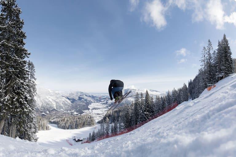 Skifahrer auf der Kandahar