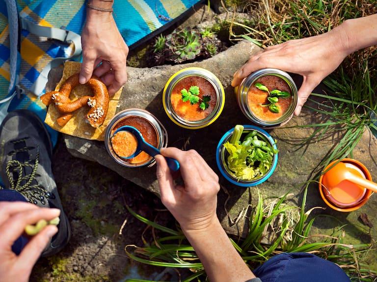Ideal für den gemeinsamen Wander-Ausflug: Gazpacho to go